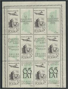 POLEN 1959 Nr 1101 KB postfrisch (117877)