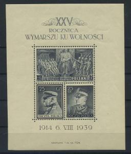 POLEN 1939 Bl.8 postfrisch (117878)