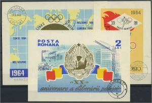 RUMAENIEN Lot Blockausgaben aus 1964 gestempelt (117885)