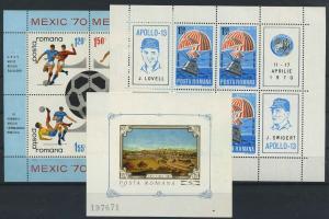 RUMAENIEN Lot Blockausgaben aus 1970 postfrisch (117888)