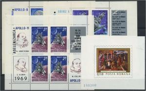 RUMAENIEN Lot Blockausgaben aus 1969 postfrisch (117889)