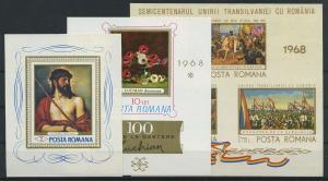RUMAENIEN Lot Blockausgaben aus 1968 postfrisch (117890)
