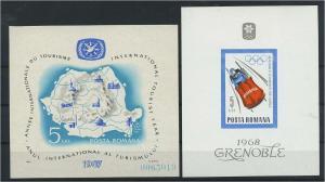 RUMAENIEN Lot Blockausgaben aus 1967 postfrisch (117891)