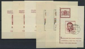 TSCHECH. Lot Blockausgaben aus 1946-1968 gestempelt (117892)