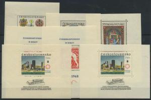 TSCHECH. Lot Blockausgaben aus 1967-1968 postfrisch (117893)