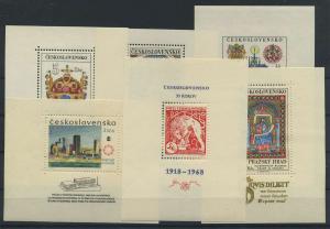 TSCHECH. Lot Blockausgaben aus 1966-1968 postfrisch (117894)