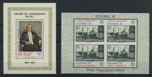TUERKEI 2 Blockausgaben aus 1981-195 postfrisch (117902)