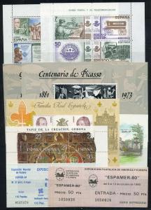 SPANIEN Lot Blockausgaben postfrisch (117924)