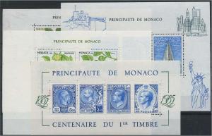 MONAKO Lot Blockausgaben postfrisch (117925)