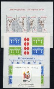 MONAKO Lot Blockausgaben postfrisch (117928)