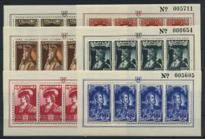 BELGIEN 1943 Nr IX-XIV postfrisch (117772)
