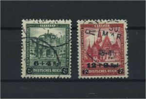 DEUTSCHES REICH 1932 Nr 463-464 gestempelt (118146)