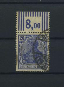 DEUTSCHES REICH 1915 Nr 87II gestempelt (118171)