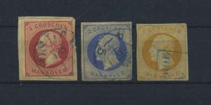 HANNOVER 1859 Nr 14-16 gestempelt (118212)