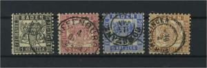 BADEN 1862 Nr 17-20 gestempelt (118219)