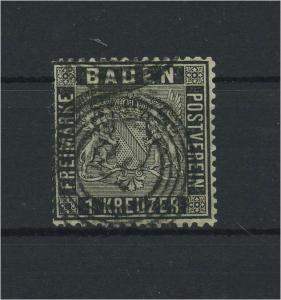 BADEN 1860 Nr 9 gestempelt (118222)