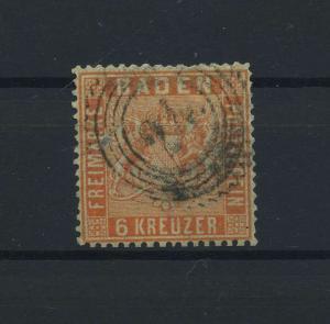 BADEN 1860 Nr 11 gestempelt (118223)
