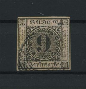 BADEN 1851 Nr 4 gestempelt (118236)