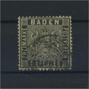 BADEN 1860 Nr 9 gestempelt (118238)