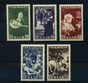 SAARLAND 1951 Nr 309-313 postfrisch (108395)