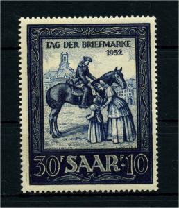 SAARLAND 1952 Nr 316 postfrisch (108398)