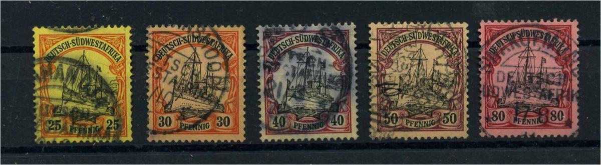 DSWA 1901 Nr 15-19 gestempelt (109854) 0