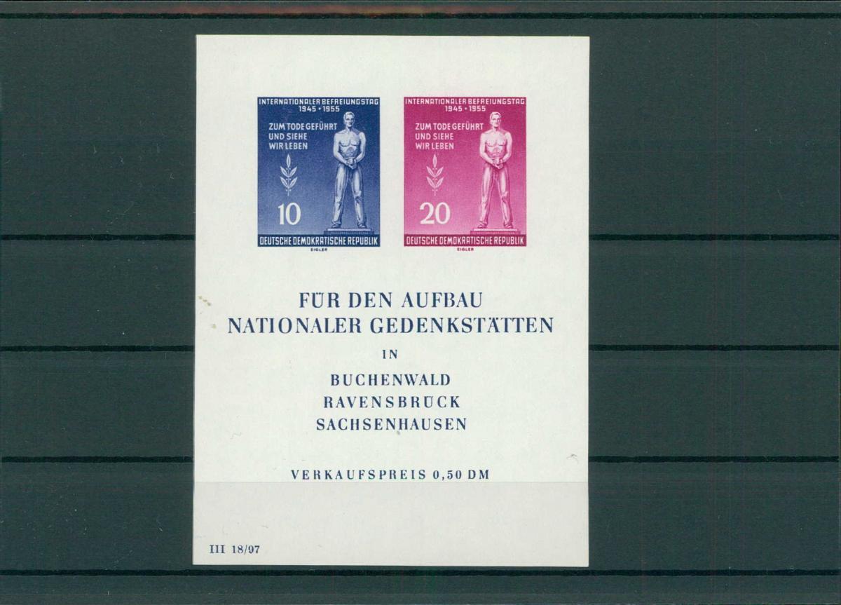 DDR 1955 Bl.11 postfrisch (203824) 0