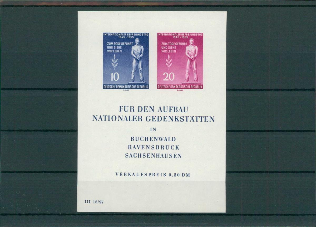 DDR 1955 Bl.11 postfrisch (203827) 0