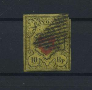 SCHWEIZ 1850 Nr 8II gestempelt (118543)