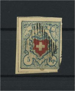 SCHWEIZ 1850 Nr 8II gestempelt (118545)