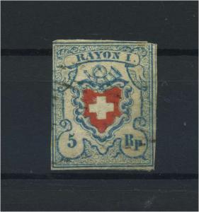 SCHWEIZ 1851 Nr 9II gestempelt (118544)