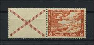DEUTSCHES REICH 1933 ZD Nr W51 postfrisch (118857)
