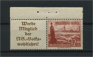 DEUTSCHES REICH 1937 ZD Nr W127 postfrisch (118602)