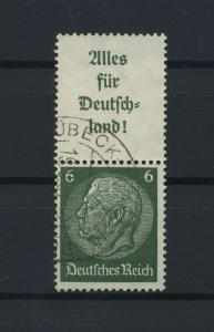 DEUTSCHES REICH 1936 ZD Nr S139 gestempelt (118693)