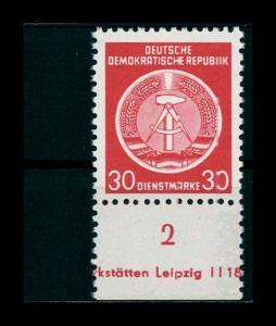 DDR DIENST 1954 Nr 11x postfrisch (401247)