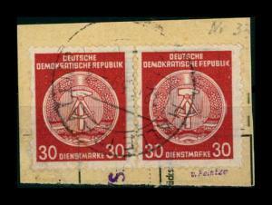 DDR DIENST 1957 Nr 38yA gestempelt (401256)