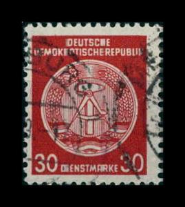 DDR DIENST 1957 Nr 38yA gestempelt (401257)