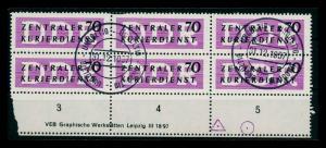 DDR DIENST 1956 Nr 9 gestempelt (205856)