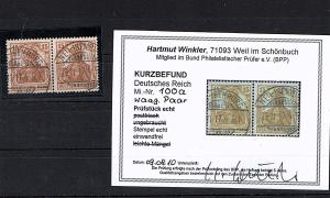 DR. Mi.-Nr. 100a/100a gestempelt, KB. Winkler, Mi. 100 €