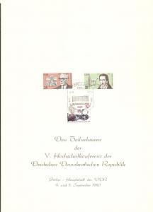 DDR - Gedenktblatt, A3-1980
