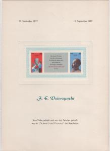 DDR - Gedenktblatt, F.E.Dzierzynski , kann im Katalog nicht finden