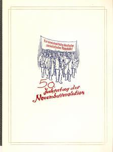 DDR - Gedenktblatt, 50 Jahre November Revolution