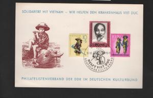 DDR - Gedenktblatt, Solidarität mit Vietnam