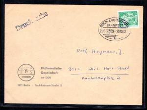 DDR Fern-Brief mit Mi.-Nr. 2483 mit Bahnpost. Berlin-Karl-Marx-Stadt.