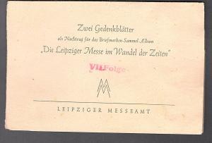 DDR - Gedenktblatt, Die Leipziger Messe im Wandel der Zeiten.