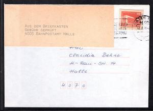 DDR. Gs-Ausschnitt auf Fern-Brief,