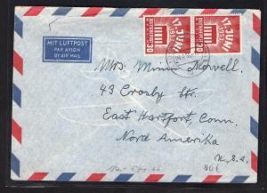 Berlin, Ausland-Luftpostbrief mit MeF. Mi.-Nr. 111