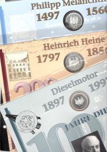 Bund Numisblätter 1997, Nummer 1-3 (Melanchthon, Heine, Diesel)