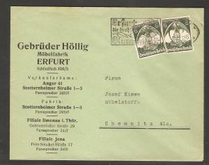 DR. Reklame-Brief, Möbelfabrik, Geb. Höllig, Erfurt.