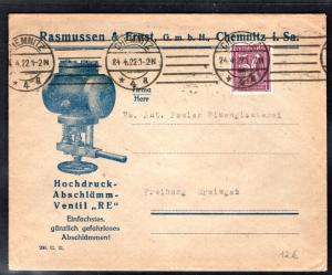 DR. Reklame-Brief, Hochdruck-Abschlämm-Ventil, Ramussen GmbH, Chemnitz.